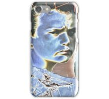 Space boy (silver) iPhone Case/Skin