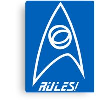 Science Rules v2.0 Canvas Print