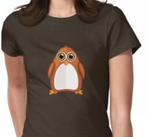 Brown Orange Penguin Womens Fitted T-Shirt