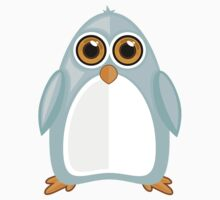 Baby Blue Penguin One Piece - Long Sleeve