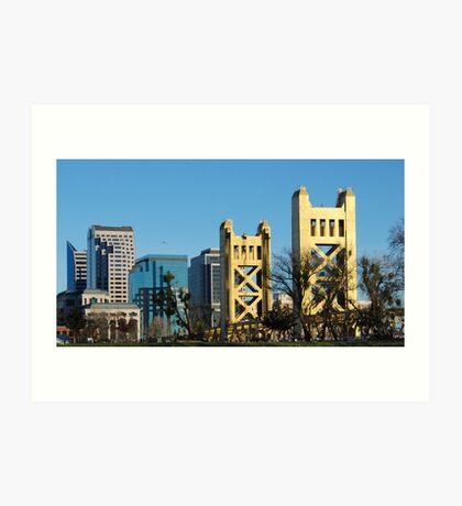 Sacramento cityscape, West Sacramento aspect Art Print