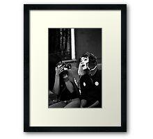 Mime Closeup Framed Print