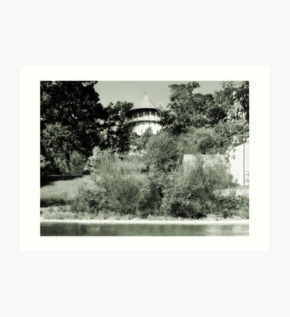 Water Tower in Riverside IL Art Print