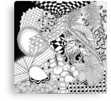 Traditional Zentangle Abstract Art on Canvas Canvas Print