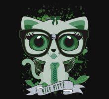 Nice Kitty - Black & Green Kids Tee