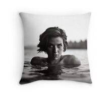 Shawna, Lake Saint George, Maine Throw Pillow