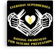 Suicide Awareness Superheroes Canvas Print