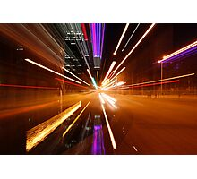 Perth Intersection at Warp Speed Photographic Print
