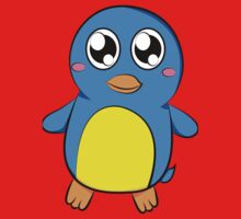 Cute Blue Penguin Kids Tee