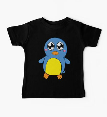 Cute Blue Penguin Baby Tee