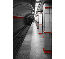 Red Line Photographic Print