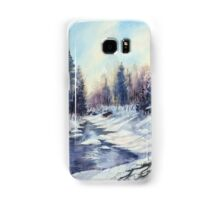 Winter river in the Laurentian Mountains. Quebec Samsung Galaxy Case/Skin
