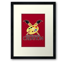 Weapons of mass creation - Red Framed Print