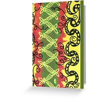 African Pattern Zentangle Greeting Card
