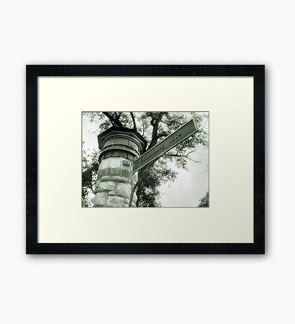 Welcome to Riverside IL Framed Print