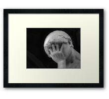 Worried Framed Print