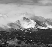 Longs Peak and a Mean Storm by Bo Insogna