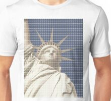 Liberty on Blue Unisex T-Shirt