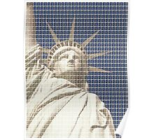 Liberty on Blue Poster
