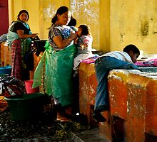 A Day in the Life While Doing the Weekly Washing by Valerie Rosen