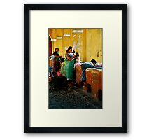 A Day in the Life While Doing the Weekly Washing Framed Print