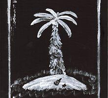 Deserted Island in Black and White by hopelessmoo