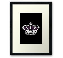 Crown - Purple 2 Framed Print
