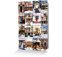 Doors of Riverside Illinois Greeting Card