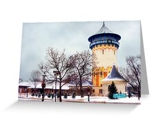 Winter Water Tower, Riverside, Illinois Greeting Card