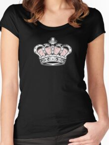 Crown - Pink 2 Women's Fitted Scoop T-Shirt