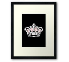 Crown - Pink 2 Framed Print