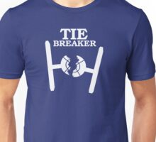 TIE BREAKER white Unisex T-Shirt