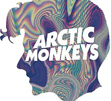 Arctic Monkeys Head Logo by colinmedvic