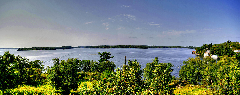 Lake of the Woods (Panorama) by Larry Trupp