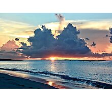 Caribbean Turks and Caicos Grace Bay Sunset Photographic Print