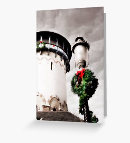 Holiday Water Tower, Riverside, Illinois Greeting Card