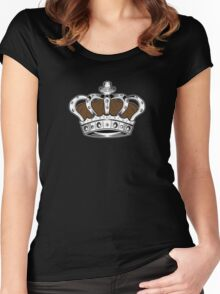 Crown - Brown 2 Women's Fitted Scoop T-Shirt