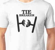TIE BREAKER black Unisex T-Shirt