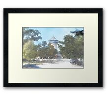 Summer Water Tower, Riverside, Illinois Framed Print