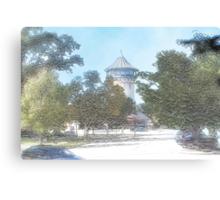 Summer Water Tower, Riverside, Illinois Canvas Print