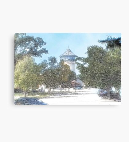 Summer Water Tower, Riverside, Illinois Canvas Print