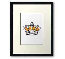 Crown - Yellow Framed Print