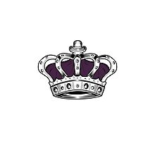 Crown - Purple Photographic Print