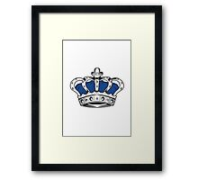 Crown - Blue Framed Print