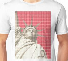 Liberty on Red Unisex T-Shirt