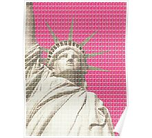 Liberty on Pink Poster