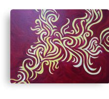 Yellow & Red Squiggle Canvas Print