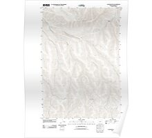 USGS Topo Map Oregon Gleason Butte 20110903 TM Poster