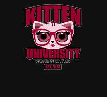 Kitten University - Pink 2 Womens Fitted T-Shirt