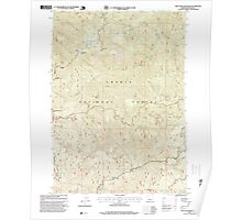 USGS Topo Map Oregon Twin Lakes Mountain 281914 1997 24000 Poster